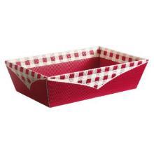 Präsentkorb 4-eckig 33,6 cm x 19,6 cm x 11 cm bordeaux Picknick mittel Produktbild