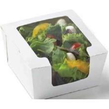 Salatbox 120 x 120 x 45 mm mit Fenster Pappe weiß Produktbild