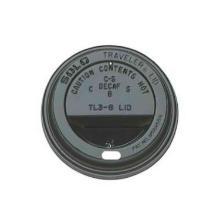 Flach-Deckel mit Trinkloch schwarz PS Ø 80,0 mm Produktbild