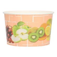 Eisbecher Pappe 250ml Fruechtemotiv Produktbild