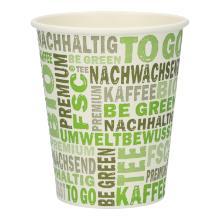 Kaffeebecher Pappe 200ml/8oz PLA PrimeSource BeGreen FSC Mix Credit Produktbild