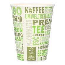 Kaffeebecher Pappe 300ml/12oz PLA PrimeSource BeGreen FSC Mix Credit Produktbild