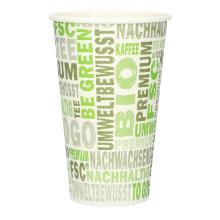 Kaffeebecher Pappe 400ml/16oz PLA PrimeSource BeGreen FSC Mix Credit Produktbild
