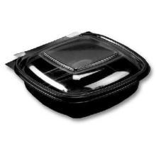 Square Pac Schale eckig 130 mm x 127 mm x 52 mm transparent/schwarz 375 ml Produktbild