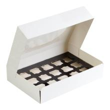 Amuse-Bouche®Transportbox S weiß mit Sichtfenster 360 mm x 250 mm x 80 mm Produktbild