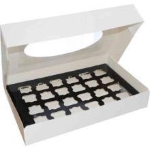 Amuse-Bouche®Transportbox M weiß mit Sichtfenster 460 mm x 310 mm x 80 mm Produktbild