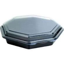 Salatbox u. Deckel Octaview 1000ml schwarz/transparent Produktbild