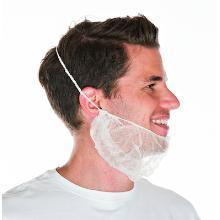 Bartschutzmaske weiss PP-Vlies Produktbild