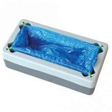 Überschuh-Spender. Koffer Produktbild