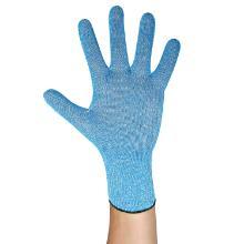 Schnittschutzhandschuhe blau Gr. XL/10 28 cm Strick synthetisch lebensmittelecht Produktbild