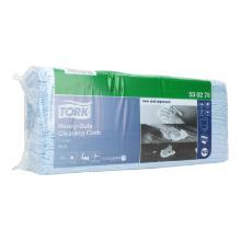 Vliesstofftuch 38 cm x 42 cm 1-lagig blau 530278 Tork W4 Produktbild