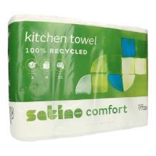 Küchenrolle comfort 3-lagig 26 cm x 24,7 cm 51 Blatt weiß Produktbild