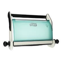 Wandhalter Reinigungstuch Performance W1 weiß/türkis 652100 Tork Produktbild