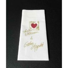 Servietten-Tasche 40 cm x 40 cm Herzlich Willkommen u. Guten Appetit Produktbild