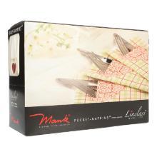 Servietten-Tasche Linclass 40 cm x 40 cm 1/8 Falz Herz. Willkommen/Guten Appetit Produktbild