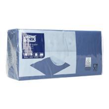 Serviette 24 cm x 24 cm 2-lagig 1/4 Falz dunkelblau 477825 Tork Produktbild