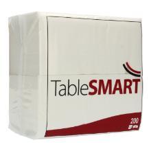 Serviette 33 cm x 33 cm 2-lagig 1/8 Falz weiß Kopffalz TableSMART Produktbild