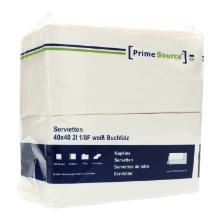 Servietten 40 cm x 40 cm 2-lagig 1/8 Buchfalz weiß PrimeSource Produktbild