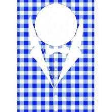 Lätzchen 42 cm x 60 cm karo blau Produktbild