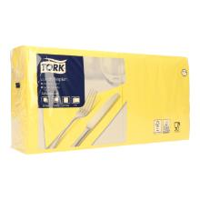 Serviette 33 cm x 33 cm 2-lagig 1/4 Falz gelb 477841 Tork Produktbild