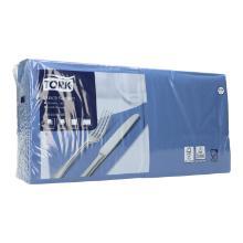 Serviette 33 cm x 33 cm 2-lagig 1/4 Falz dunkelblau 477215 Tork Produktbild