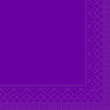 Serviette 33 cm x 33 cm 3-lagig 1/8 Falz aubergine Produktbild