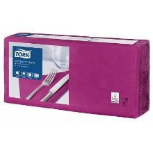 Serviette 33 cm x 33 cm 3-lagig 1/4 Falz violett 477865 Tork Produktbild
