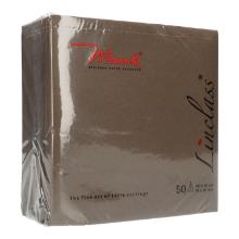 Serviette Airlaid 40 cm x 40 cm 1/4 Falz braun Produktbild
