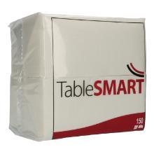 Serviette 33 cm x 33 cm 3-lagig 1/8 Falz weiß Kopffalz TableSMART Produktbild