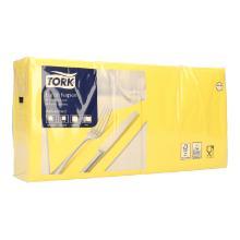 Serviette 33 cm x 33 cm 3-lagig 1/4 Falz gelb 477862 Tork Produktbild