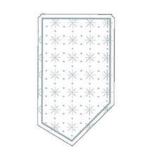 Kännchenanfasser Sterne-Punkte-Prägung 9-lagig 95 mm x 55 mm Produktbild