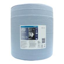 Putztuchrolle 3-lagig 37 cm x 34 cm 1000 Blatt W1 blau 128407 Tork Produktbild