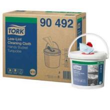 Reinigungstuch 250 Blatt/Spendereimer W10 türkis 90492 Tork Produktbild