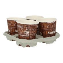 Holzschliff Trinkbecherhalter für 4 Becher Produktbild