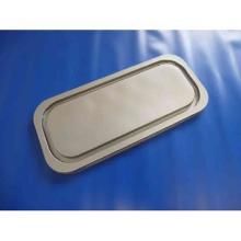 PS-Deckel zu Eisdose Napoli 342 mm x 157 mm x 11 mm grau Produktbild
