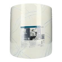 Putztuchrolle 2-lagig 37 cm x 34 cm 340m W1 weiß 130060 Tork Produktbild