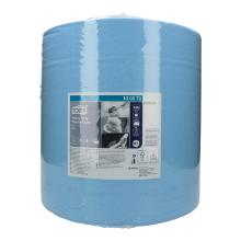 Putztuchrolle 2-lagig 37 cm x 34 cm 340m W1 blau 130070 Tork Produktbild