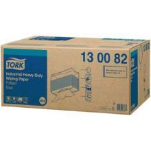Wischtuch 38,5 cm x 32,5 cm W4 blau 3-lagig 130082 Tork Produktbild