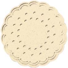 Tassentropfdeckchen Ø7,5 cm 8-lagig cream Produktbild