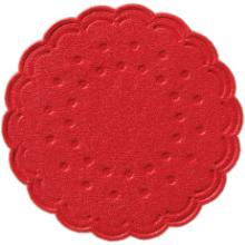 Tassentropfdeckchen Ø7,5 cm 8-lagig rot Produktbild
