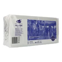 Serviette 33 cm x 33 cm 2-lagig 1/8 Buchfalz weiß Produktbild