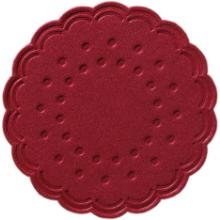 Tassentropfdeckchen Ø7,5 cm 8-lagig bordeaux Produktbild