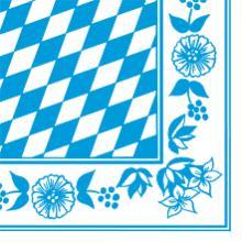 Serviette Dunisoft 40 cm x 40 cm 1/4 Falz Bayern-Raute Produktbild