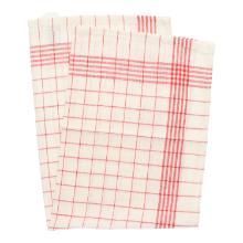 Geschirrtuch 50 cm x 70 cm rot/weiß Baumwolle Produktbild