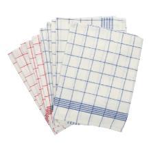 Geschirrtuch 50 cm x 70 cm rot/weiß blau/weiß Produktbild