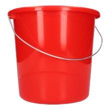 Eimer 5L rot mit Metallbügel Produktbild