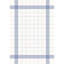Towel Napkin 38 cm x 54 cm weiß mit blauen Streifen Produktbild