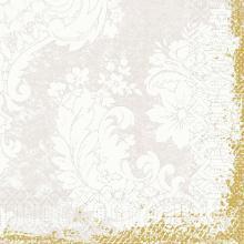 Serviette 33 cm x 33 cm 3-lagig 1/4 Falz royal white Produktbild
