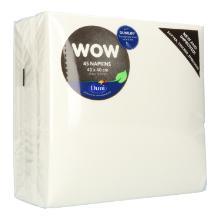 Serviette Dunilin 40 cm x 40 cm 1/4 Falz weiß Produktbild