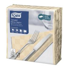 Dinnerserviette 38 cm x 39 cm 2-lagig 1/4 Falz sand 478786 Tork textured Produktbild